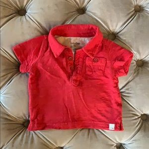 Dusty red Baby Gap polo shirt (0-3 months)